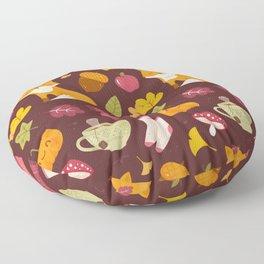Cozy Fall - Dark Version - Pattern Floor Pillow