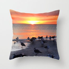Shore Birds Throw Pillow
