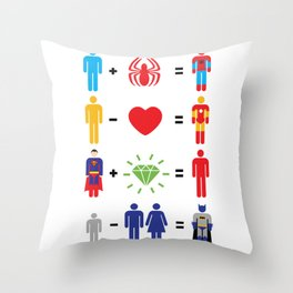 Super Math Throw Pillow