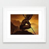 tiki Framed Art Prints featuring Tiki by Bobkehl
