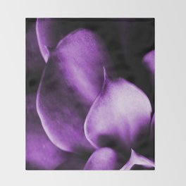 Succulent Leaves In Ultraviolet Color #decor #society6 #homedecor Throw Blanket