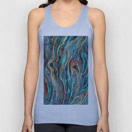 Colorful wavy abstraction Unisex Tank Top