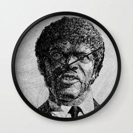 Jules Winnfield Portrait  Samuel L Jackson Pulp Fiction Wall Clock