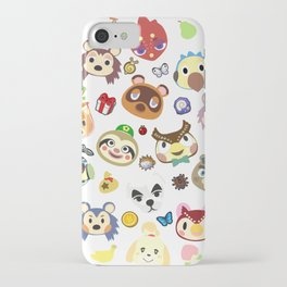 animal crossing cute villagers iPhone Case