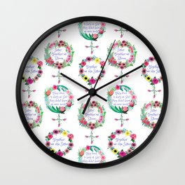 International Women's Day Sisterhood quotes for nurturing Sisters Wall Clock
