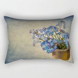 Forget-me-not flowers Rectangular Pillow