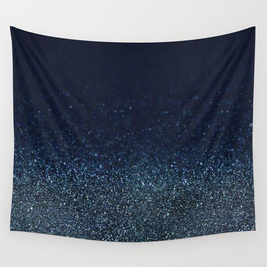 Shiny Glittered Rain Wall Tapestry