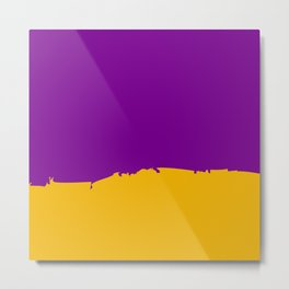 Purple and Yellow Metal Print