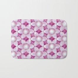 Chunky Modern Pearl Pink Daisies Bath Mat