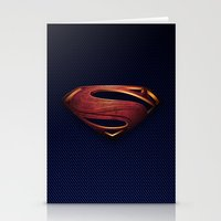 man of steel Stationery Cards featuring Man of Steel by Fortale