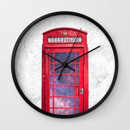 Telephone Box Portal London England Wall Clock