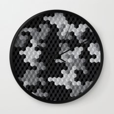 CUBOUFLAGE BLACK & WHITE Wall Clock