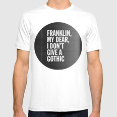 Franklin, my dear, I don't give a gothic MEDIUM White Mens Fitted Tee