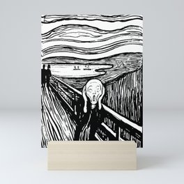 THE SCREAM - EDVARD MUNCH - LITHOGRAPH Mini Art Print