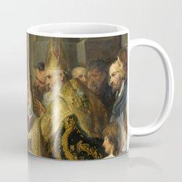 "Sir Anthony van Dyck ""Saint Ambrose barring Theodosius from Milan Cathedral"" Coffee Mug"