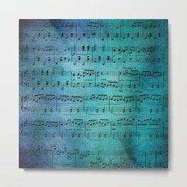 Painted Music Metal Print