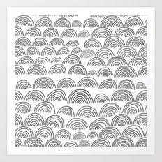 half circle pattern Art Print