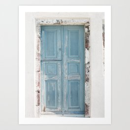 Santorini Doors Art Print