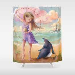 Z imagination Felicity and Fritz, Orphic Wanderers Shower Curtain