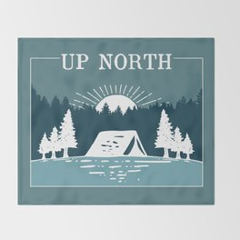UP NORTH, camping Throw Blanket