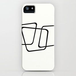 Simply Minimal - Black and white abstract iPhone Case
