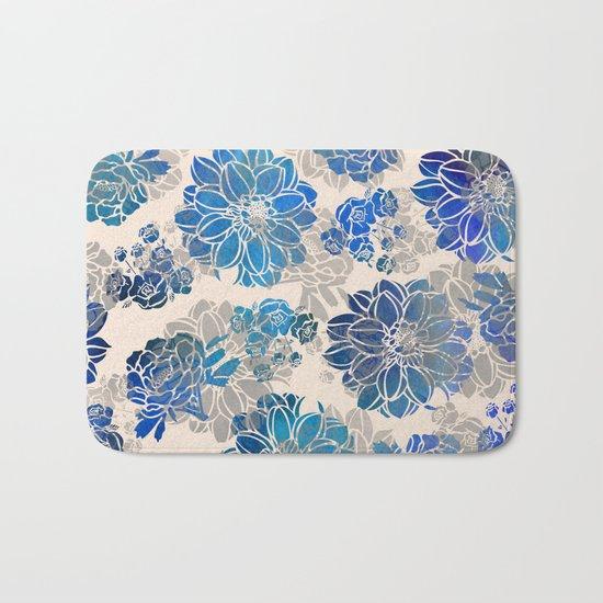 Flower Pattern Design #2 Bath Mat