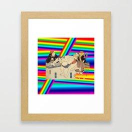 LGBT Sumo Wrestlers. Color Pride. Ukiyoe. Framed Art Print