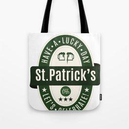 Irish Lucky St Patricks Irishman Tote Bag