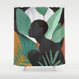 Tropical Girl 11 Shower Curtain