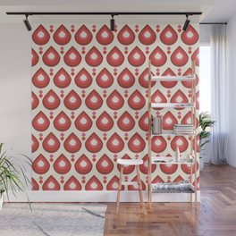 Drops Retro Pink Wall Mural
