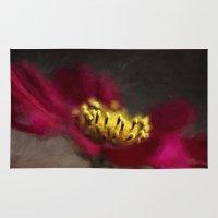 van gogh Area & Throw Rugs featuring Van Gogh Cosmo Bloom by ThePhotoGuyDarren