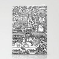 velvet underground Stationery Cards featuring Underground by Olya Goloveshkina