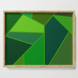 Emerald Shards Serving Tray