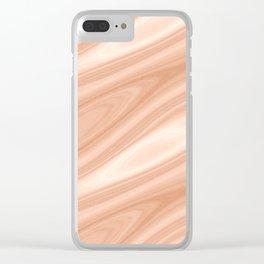 Cedar Wood Surface Texture Clear iPhone Case