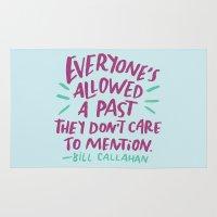 bill Area & Throw Rugs featuring Bill Callahan by Josh LaFayette