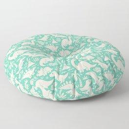 Delightful Dinos (teal) Floor Pillow