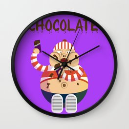 Chocolate boy Wall Clock