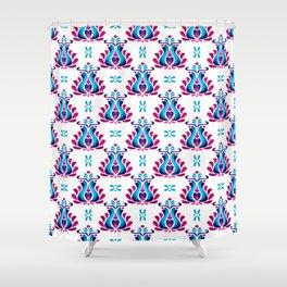 Folk Tulip Wallpaper No.01 Shower Curtain