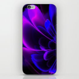 Stylized Half Flower Indigo iPhone Skin