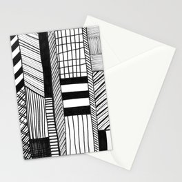 Mono Geo Lines Stationery Cards