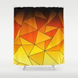 Dark Gooseberry Geometric Ombre Shower Curtain
