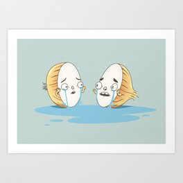 Tearful Breakup Art Print