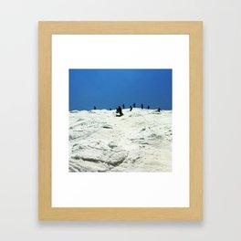 Spring Skiing on Superstar Framed Art Print