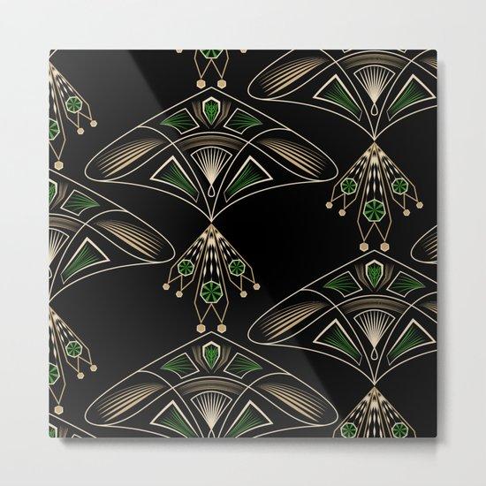 "Art Deco ""Emeralds "" Metal Print"
