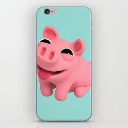 Rosa the Pig Happy iPhone Skin