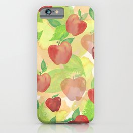 Watercolor Apple pattern iPhone Case