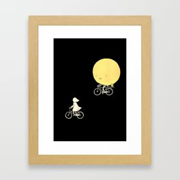 The moon and me Framed Art Print