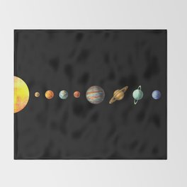The Solar System Throw Blanket