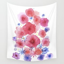 Caramel flowers Wall Tapestry