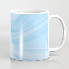 Pastel Marbled Blue & White Geode Coffee Mug